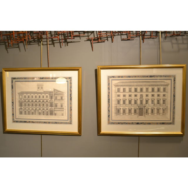 17th Century Engravings - Palazzi Di Roma - A Pair - Image 2 of 8