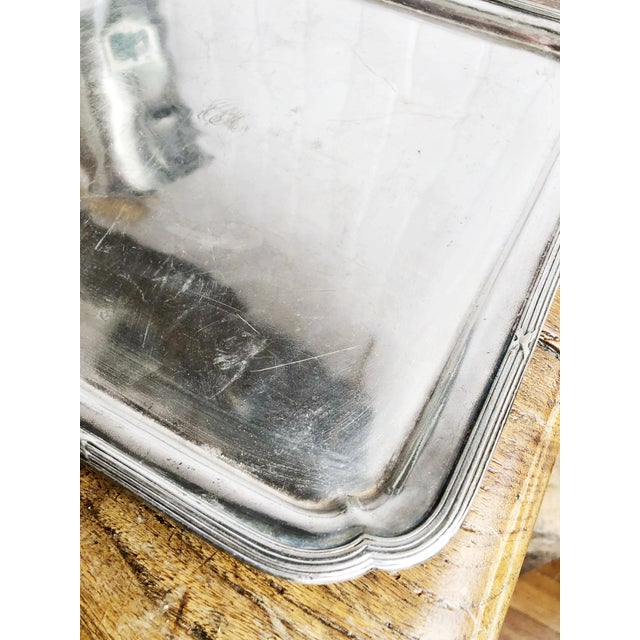 Edwardian 1910s 1914 Silver Plated Canadian Pacific Railway Serving Tray For Sale - Image 3 of 7