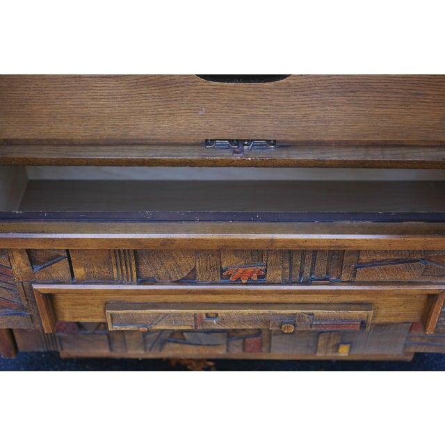 "Lane ""Pueblo"" Brutalist Armoire/Dresser - Image 10 of 10"