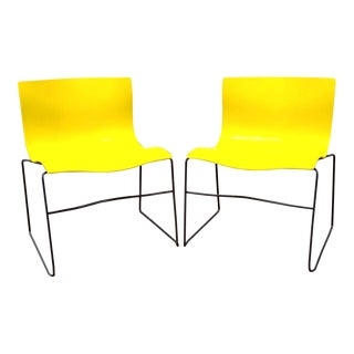 Knoll Yellow Handkerchief Chairs - a Pair