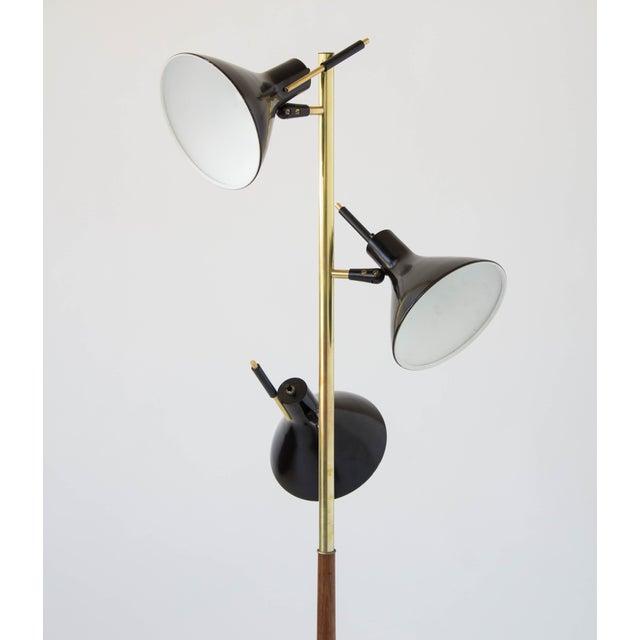 Mid-Century Modern Three-Shade Floor Lamp by Gerald Thurston Lightolier For Sale - Image 3 of 11
