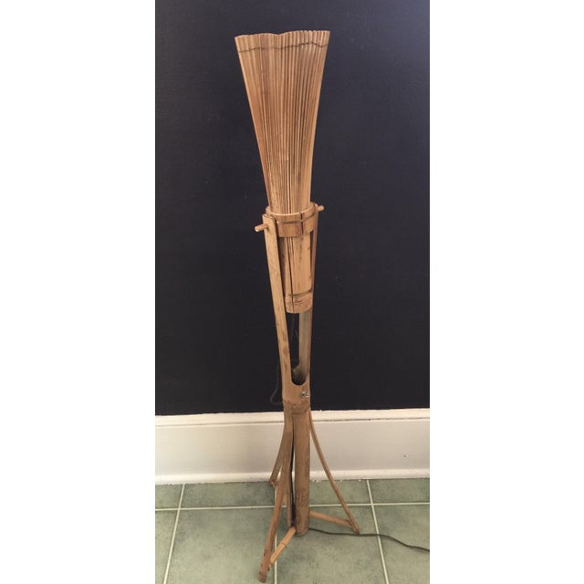 Vintage Bamboo Tiki Floor or Desk Lamp - Image 2 of 7