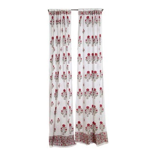 """Amaya 45"""" X 84"""" Red Curtain For Sale"""