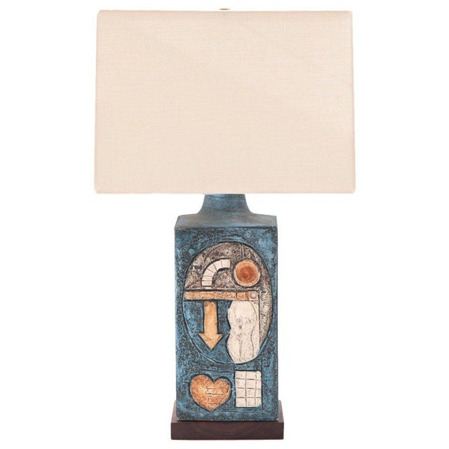 1960s Fabulous Studio Pottery Lamp by Troika For Sale - Image 5 of 5