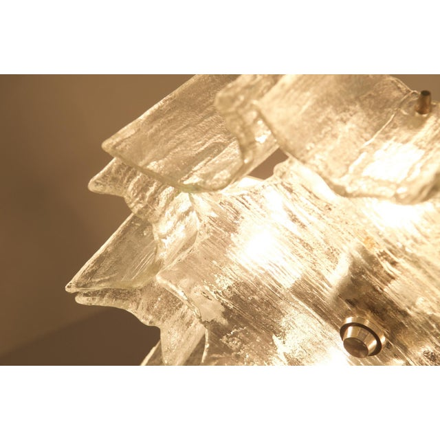 Glass Glass chandelier by JT Kalmar For Sale - Image 7 of 11