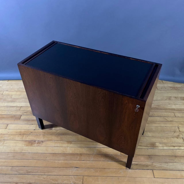 Black Kai Kristiansen Rosewood Hydraulic Bar Cabinet, 1968 For Sale - Image 8 of 12