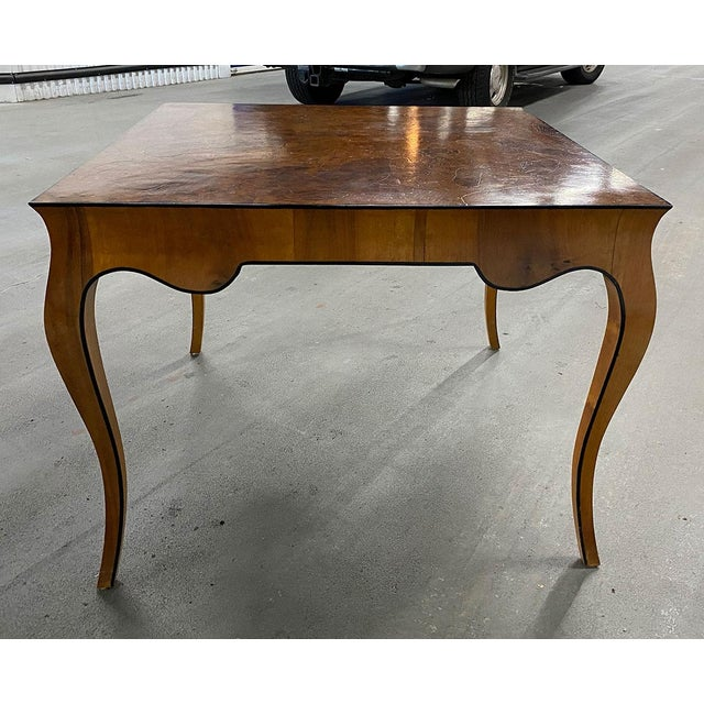 Mid-Century Modern 1970s Stunning Oyster Olivewood Burl Table, Made in Italy For Sale - Image 3 of 13