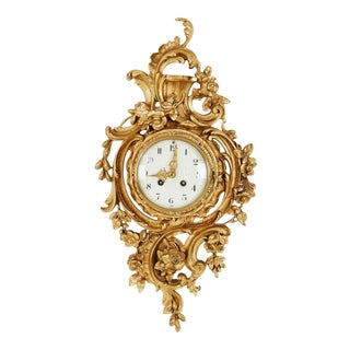 1900's Swedish Rococo Wall Clock For Sale