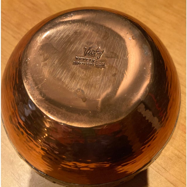 Figurative Vicky Industria Copper & Sterling Bowl For Sale - Image 3 of 5