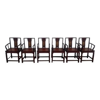 1900s Antique Chinese Dining Chairs- Set of 6 For Sale