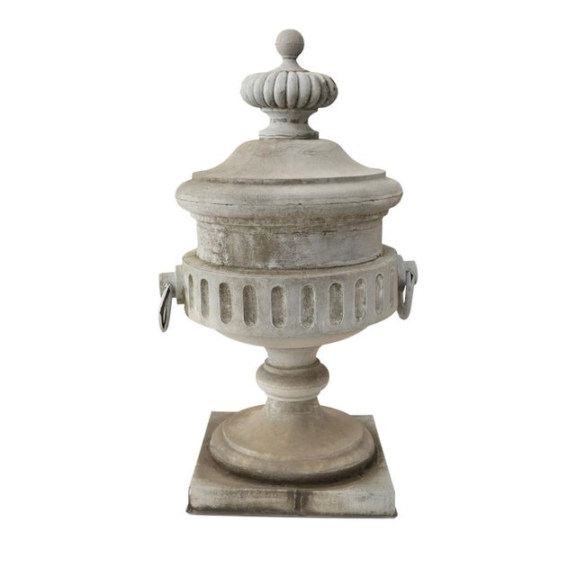 Monumental Urn-Shape Zinc Finial For Sale - Image 9 of 9