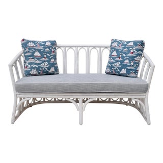 McGuire Bent Bamboo Settee, 1950's For Sale