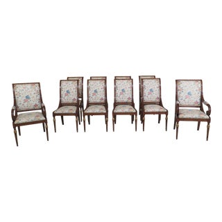 Karges French Regency Style Dining Room Chairs - Set of 10 For Sale