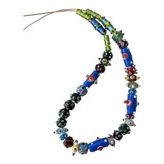 Vintage Boho Handblown Glass Beads For Sale