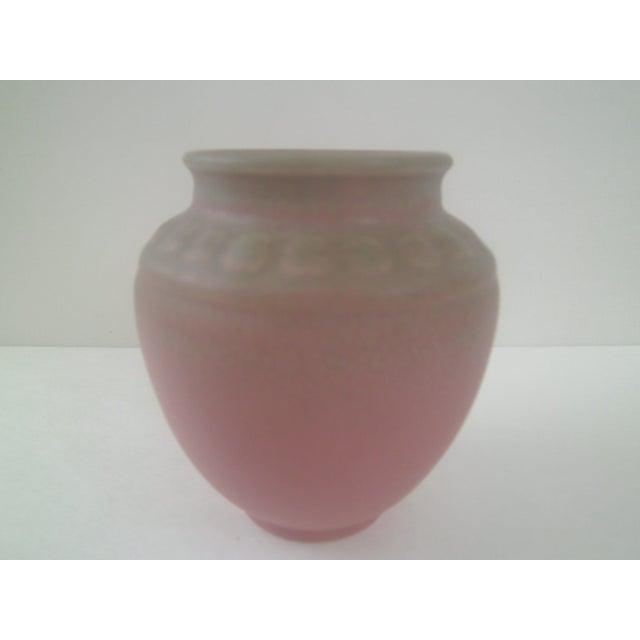 Rookwood Art Pottery Vase - Rose & Green 1935 - Image 6 of 7