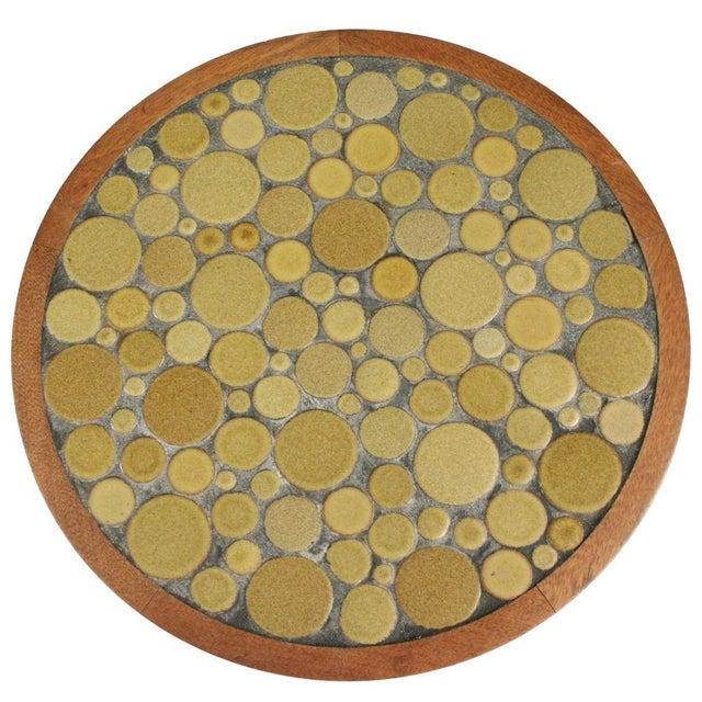 Gordon Martz Ceramic Tile Top Pedestal Occasional Table For Sale In New York - Image 6 of 6
