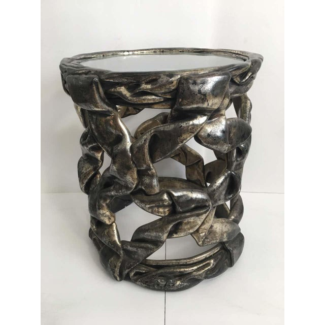 Tony Duquette Sculptural Hollywood Regency Ribbon Drinks Side Table, Tony Duquette Style For Sale - Image 4 of 7