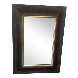 Antique Mirror in Wood Frame For Sale