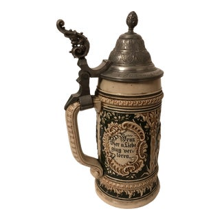 19th Century German Beer Stein For Sale