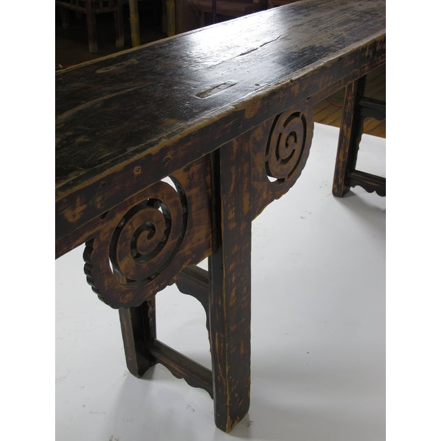 Elm Antique Chinese Console Table For Sale - Image 7 of 8