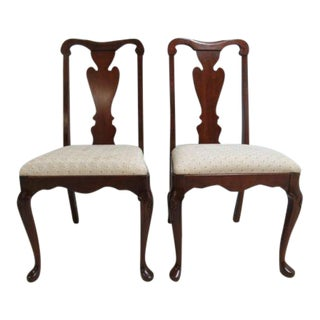 Pennsylvania House Solid Cherry Chippendale Dining / Desk Chairs - a Pair For Sale