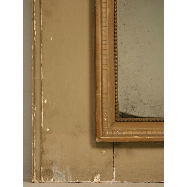 Circa 1880 French Painted Trumeau Mirror For Sale - Image 10 of 12
