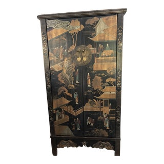 19th Century Antique Chinese Painted Armiore For Sale