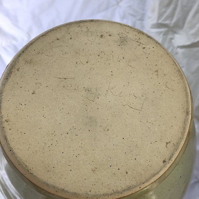 Large Studio Pottery Drip Glazed Floor Urn For Sale In New York - Image 6 of 6