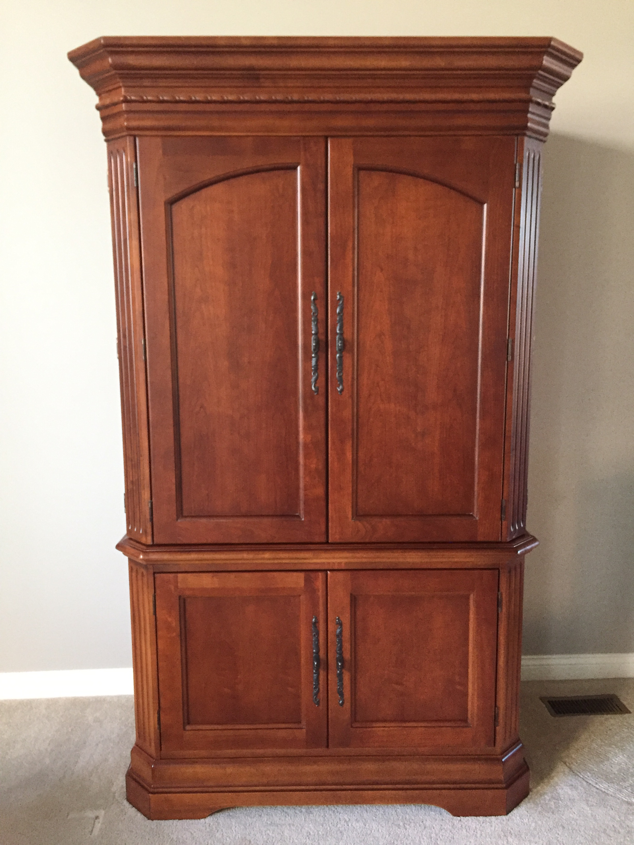 Marvelous Hooker Cherry TV Armoire   Image 2 Of 4