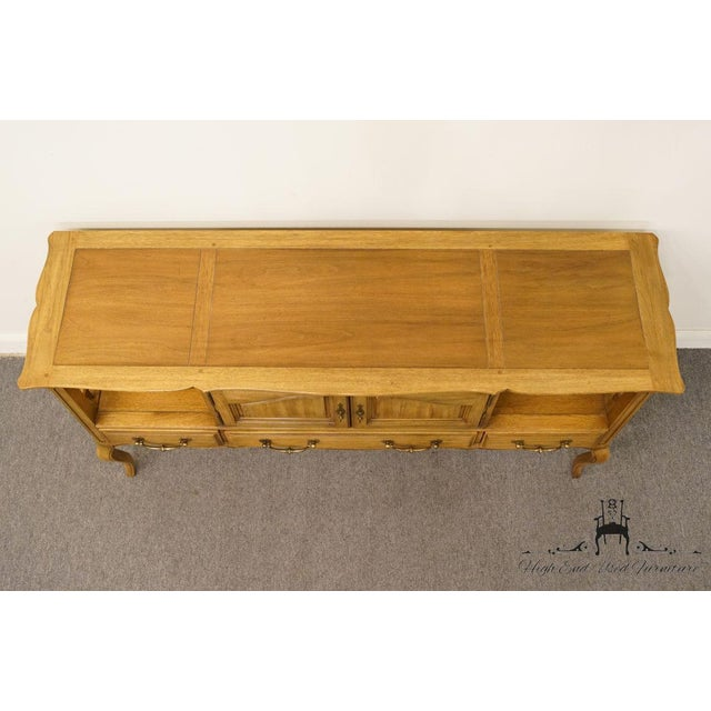 """Late 20th Century Thomasville Furniture Chateau Collection French Country 64"""" Server / Buffet For Sale - Image 5 of 13"""