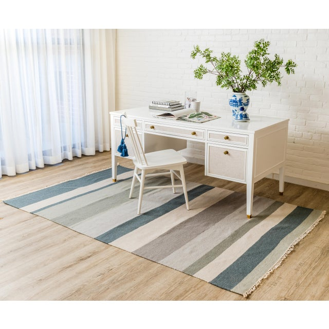 """Erin Gates Thompson Brant Point Grey Hand Woven Wool Area Rug 5' X 7'6"""" For Sale - Image 4 of 5"""