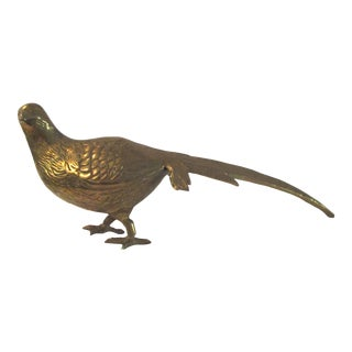 1980s Brass Standing Pheasant For Sale