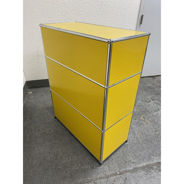 Yellow Usm Fritz Haller Yellow Filing Cabinet For Sale - Image 8 of 11