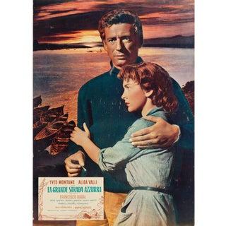 The Wide Blue Road 1957 Italian Fotobusta Film Poster For Sale