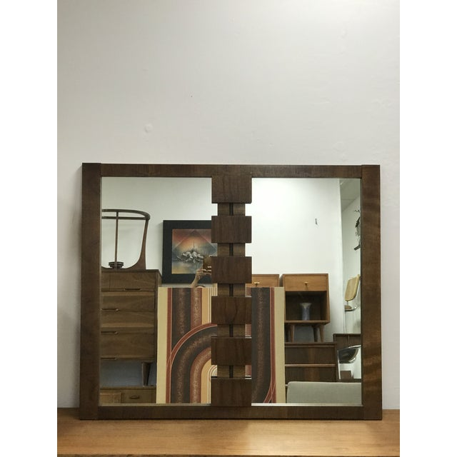Mid-Century Modern Brutalist Hanging Mirror For Sale - Image 10 of 10