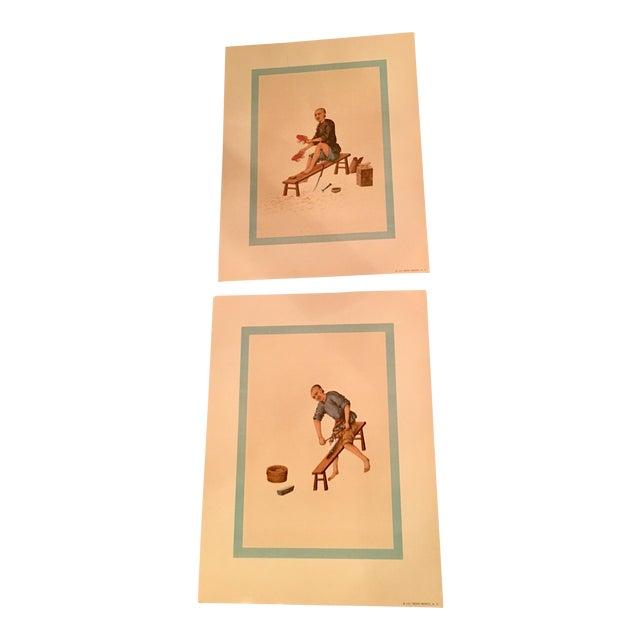 1957 Mid-Century Penn Prints - A Pair - Image 1 of 5