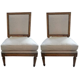 19th Century French Louis XVI Style Children's Chairs- A Pair For Sale