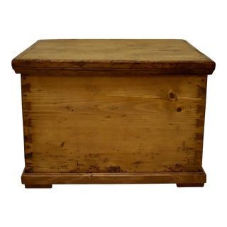 Pine Dovetailed Box For Sale