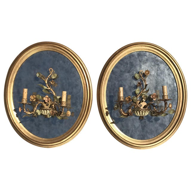 Oval Giltwood Mirrors - A Pair - Image 6 of 6