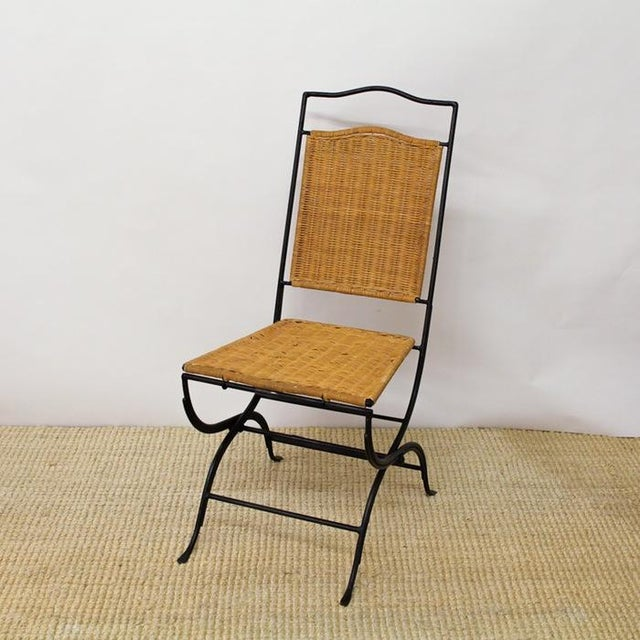 Pottery Barn Metal & Wicker Patio Chairs - S/3 - Image 2 of 8