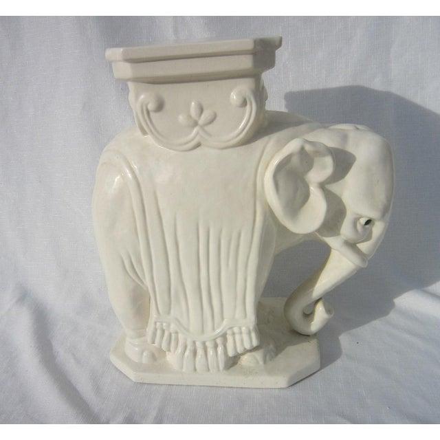 Ceramic Elephant Garden Stool - Image 2 of 6