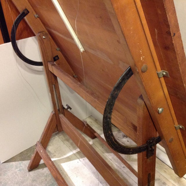 Antique Architect Drafting Table - Image 5 of 8