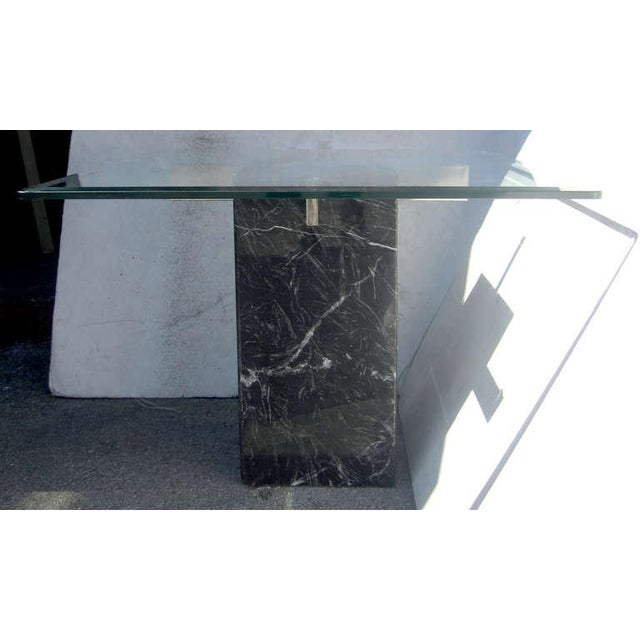 Artedi Italian Marble Pedestal Side Tables - Pair - Image 2 of 7