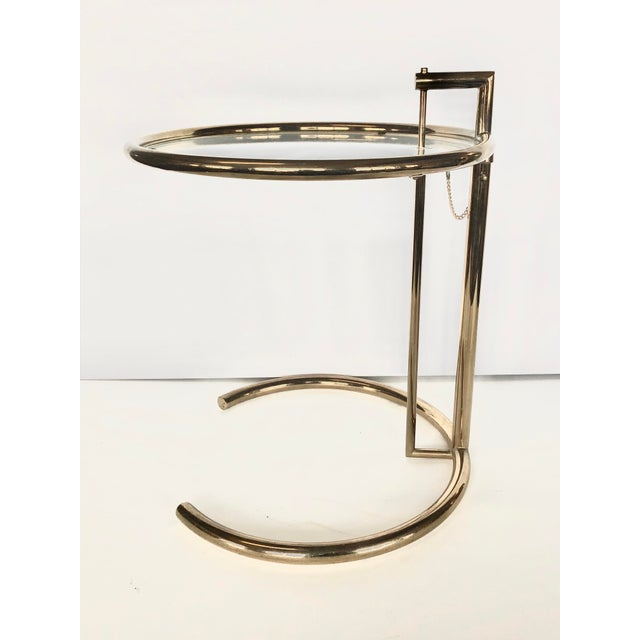 1970s Eileen Gray Modern Brass Side Table For Sale In Chicago - Image 6 of 6