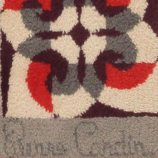 44896 Mid-Century French Art Deco carpet by Pierre Cardin. This graphic carpet designed by Pierre Cardin features a...