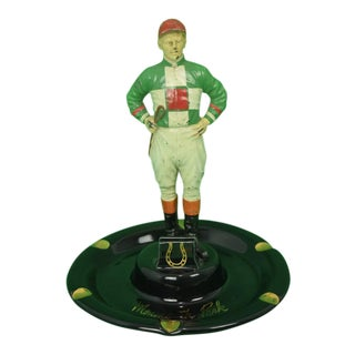 """21"" Jockey Custom Silks Monmouth Park Ashtray For Sale"