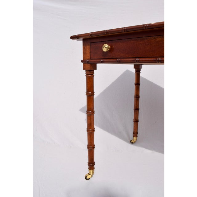 Regency Faux Bamboo Writing Desk For Sale - Image 10 of 11