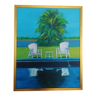 1990s Richard Youniss 'Reflections' Original Oil Painting For Sale