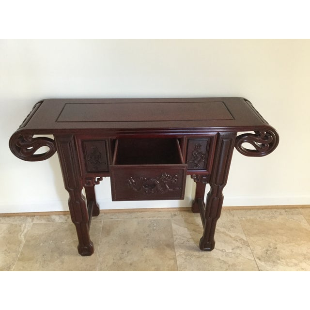 Solid Rosewood Console Table - Image 3 of 6