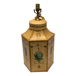 """1960s Vintage Chinese English Tea Caddy Lamps """"9"""" For Sale"""